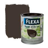 Flexa Strak in de Lak donker bruin zijdeglans 750 ml