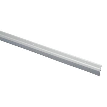 Handson tochtstrip met rubber lip schuin aluminium 93 cm