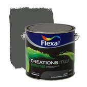 Flexa Creations muurverf industrial grey extra mat 2,5 liter