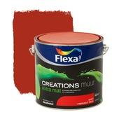 Flexa Creations muurverf vibrant red extra mat 2,5 liter