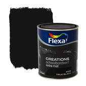 Flexa Creations schoolbordverf true black extra mat 1 liter