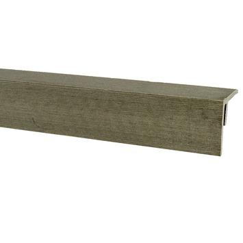 Hoekprofiel HKC Kunststof grijs 4,0x4,0x300 cm