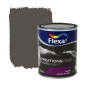 Flexa Creations muurverf dark steel metallic 1 liter