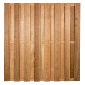 Schutting hardhout recht 180x180 cm