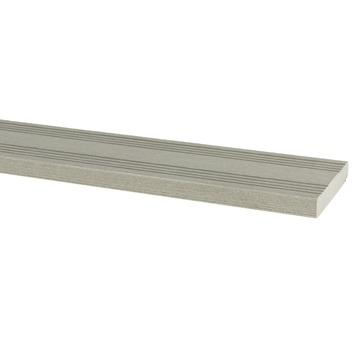 Afwerklat HKC Kunststof grijs 300x6,3x0,9 cm