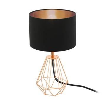 EGLO tafellamp Carlton zwart/koper