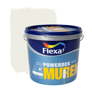 Flexa Powerdek latex RAL 9010 gebroken wit mat 10 liter