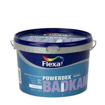 Flexa Powerdek latex Badkamer & Keuken stralend wit mat 2,5 liter