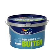 Flexa Powerdek latex buiten stralend wit mat 2,5 liter