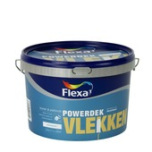 Flexa Powerdek latex vlekken stralend wit mat 2,5 liter