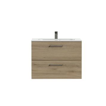 Tiger badkamermeubel Studio 80cm chalet eik/wit met ronde RVS greep