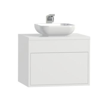 Tiger Helsinki badkamermeubel 60 cm hoogglans wit met waskom