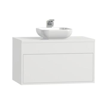 Tiger Helsinki badkamermeubel 80 cm hoogglans wit met waskom