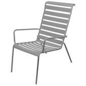 Loungestoel metaal grijs