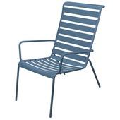 Loungestoel metaal blauw