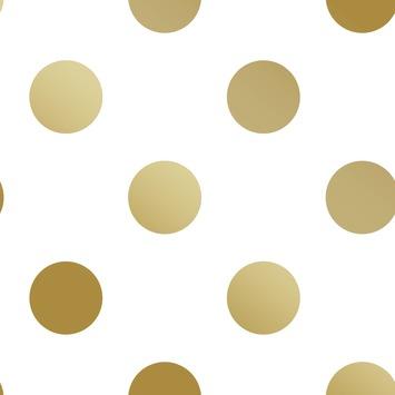 Vliesbehang Stippen goud 100105