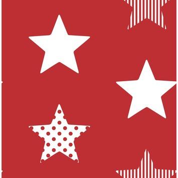 Vliesbehang Superster rood 100108