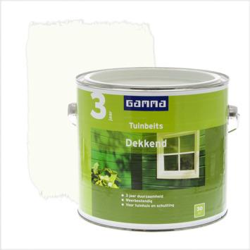 GAMMA tuinbeits dekkend RAL 9010 gebroken wit 2,5 liter