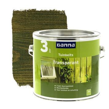 GAMMA tuinbeits transparant groen 2,5 liter