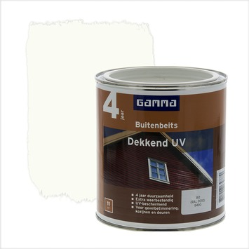 Geliefde GAMMA | GAMMA buitenbeits dekkend UV RAL 9010 gebroken wit 750 ml PJ39