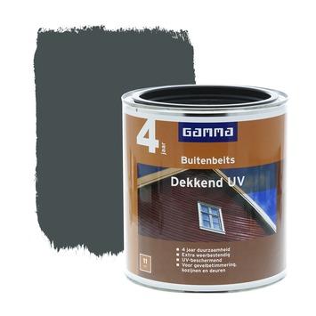 GAMMA buitenbeits dekkend UV antraciet 750 ml