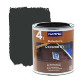 GAMMA buitenbeits dekkend UV diep zwart 750 ml