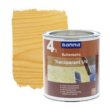 GAMMA buitenbeits transparant UV kleurloos 750 ml