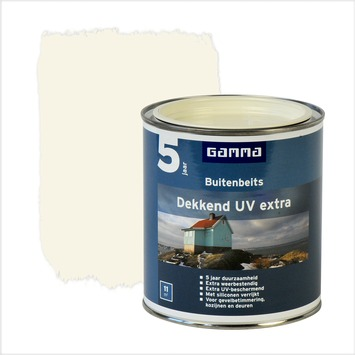 GAMMA buitenbeits dekkend UV extra crème wit 750 ml