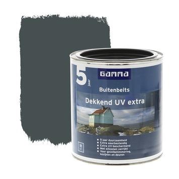 GAMMA buitenbeits dekkend UV extra antraciet grijs 750 ml
