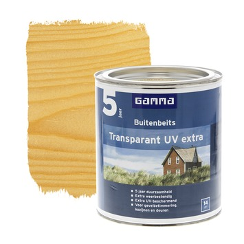 GAMMA buitenbeits transparant UV extra kleurloos 750 ml