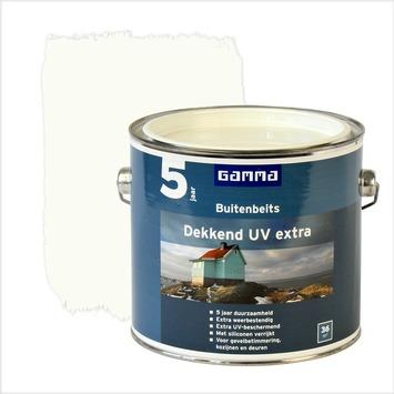 GAMMA buitenbeits dekkend UV extra wit 2,5 liter