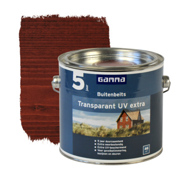 GAMMA buitenbeits transparant UV extra mahonie 2,5 liter
