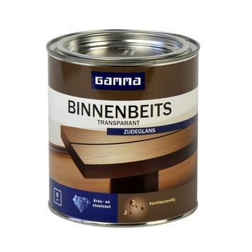GAMMA binnenbeits transparant noten zijdeglans 750 ml