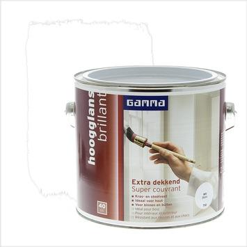 GAMMA Extra Dekkend lak wit hoogglans 2,5 liter