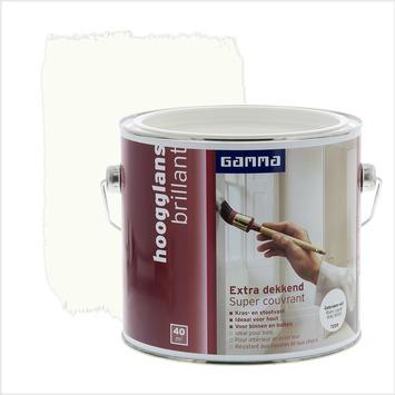 GAMMA Extra Dekkend lak RAL 9010 gebroken wit hoogglans 2,5 liter