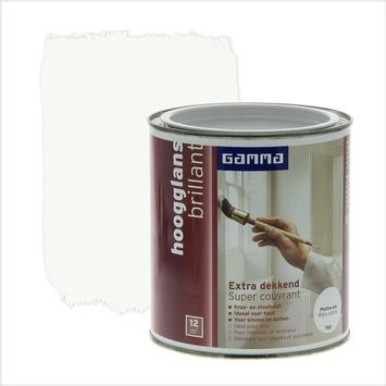 GAMMA Extra Dekkend lak platina wit hoogglans 750 ml