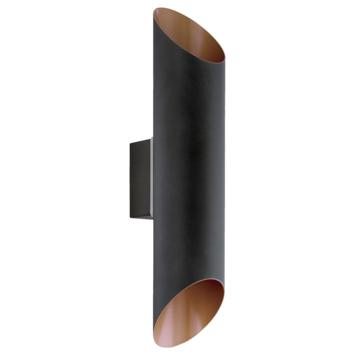 EGLO wandlamp Agolada LED 2x3,7 watt zwart