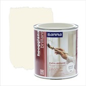 GAMMA Extra Dekkend lak RAL 9001 crème wit hoogglans 750 ml