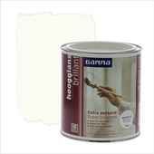 GAMMA Extra Dekkend lak RAL 9010 gebroken wit hoogglans 750 ml