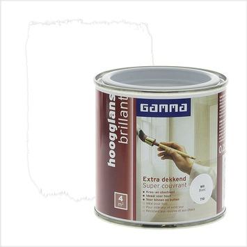GAMMA Extra Dekkend lak wit hoogglans 250 ml