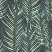 Vliesbehang Palmen blauw 100558