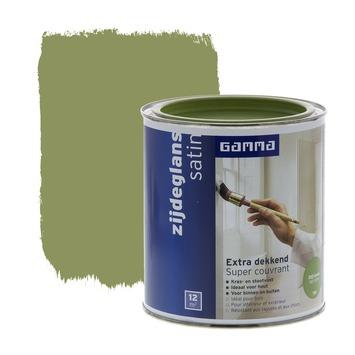 GAMMA Extra Dekkend lak olijfgroen zijdeglans 750 ml