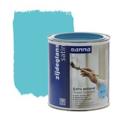 GAMMA Extra Dekkend lak opaal blauw zijdeglans 750 ml