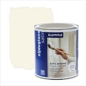 GAMMA Extra Dekkend lak RAL 9001 crème wit zijdeglans 750 ml