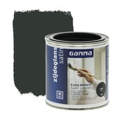 GAMMA Extra Dekkend lak zwart zijdeglans 250 ml
