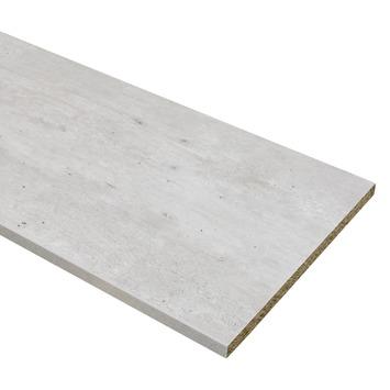 Meubelpaneel ABS 2-zijdig beton 240x30 cm 18 mm