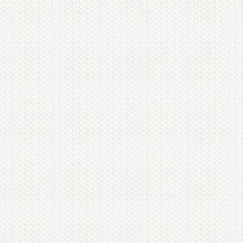 Vliesbehang Weefsel wit 102967