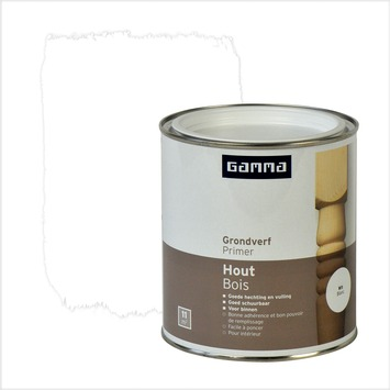 GAMMA grondverf hout wit 750 ml