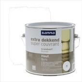 GAMMA Extra Dekkend grondverf hout wit 2,5 liter