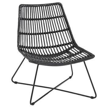 Gamma loungestoel rotan zwart kopen ligbedden - Woonkamer rotan voor veranda ...